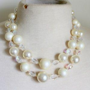VENDOME Vintage AB Pearl Necklace  1950s